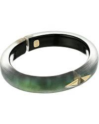 Alexis Bittar - Golden Studded Hinge Bracelet (gold) Bracelet - Lyst