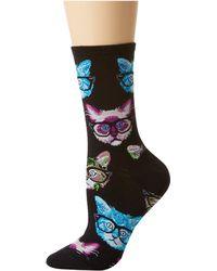 Socksmith - Kittenster (black/brown) Women's Crew Cut Socks Shoes - Lyst