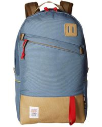 Topo Designs - Daypack (storm/khaki Leather) Backpack Bags - Lyst