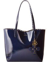 c37a6991c70 Lauren by Ralph Lauren - Merrimack Reversible Tote (navy mixed Geo) Tote  Handbags