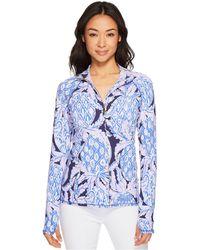 Lilly Pulitzer - Luxletic Serena Jacket (seaside Aqua U Gotta Regatta) Women's Jacket - Lyst