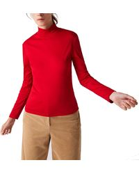 Lacoste - Long Sleeve Solid Color Turtleneck Tee - Lyst