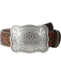 Ariat - Rectangle Rope Edge Shield Buckle Belt - Lyst