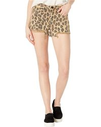 Blank NYC Leopard Print Denim Shorts In Stubborn - Multicolor