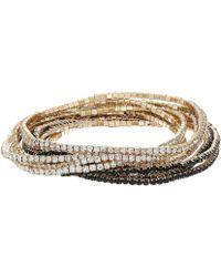 Guess - 10-piece Stone Stretch Bracelet Set - Lyst