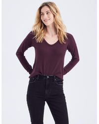 Abercrombie & Fitch Long-sleeve V-neck Tee - Brown