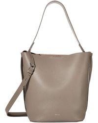 Reiss Hudson Bucket Bag - Gray