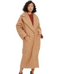 UGG Hattie Long Oversized Coat - Brown