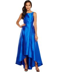 Adrianna Papell - High-low Halter Mikado Gown - Lyst