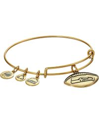 ALEX AND ANI - Nfl Seattle Seahawks Football Bangle - Lyst