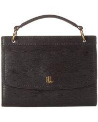 Lauren by Ralph Lauren Saffiano Top-handle Belt Bag - Black