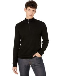 Ted Baker Tunnel Half Zip Knitted Sweater - Black