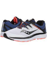 ca34747e2556 Saucony - Guide Iso (white blue vizi Red) Men s Running Shoes -