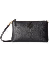 89348e5d1eba Tory Burch - Mcgraw Top Zip Crossbody (black) Cross Body Handbags - Lyst