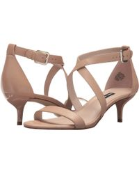 Nine West - Xaeden Strappy Heel Sandal (black Leather) Women's Shoes - Lyst