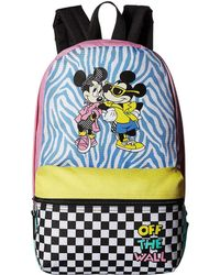 Vans - Mickey's 90th Hyper Minnie Calico Backpack (white) Backpack Bags - Lyst