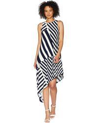 Lauren by Ralph Lauren - Susu Sleeveless Day Dress (lighthouse Navy/colonial Cream) Women's Dress - Lyst
