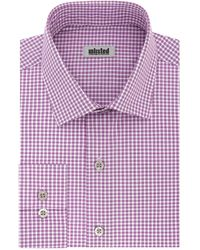 Kenneth Cole Dress Shirt Slim Fit Checks And Stripes - Pink