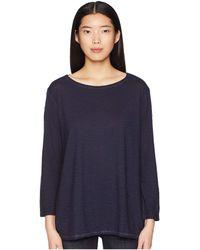 Eileen Fisher - Bateau Neck Tunic (midnight) Women's Long Sleeve Pullover - Lyst