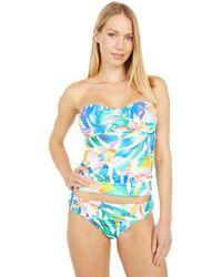La Blanca Wild Tropic Bandini Tankini Swimwear - Blue
