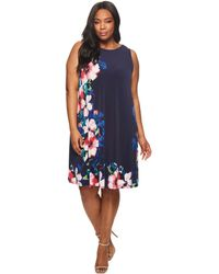 Lauren by Ralph Lauren - Suzan Windell Floral Matte Jersey Dress - Lyst