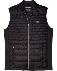 Lacoste Padded Golf Vest Clothing - Black