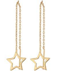 Steve Madden - Star Threader Post Earrings - Lyst
