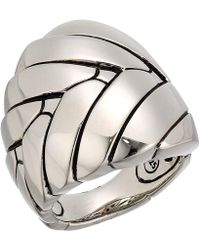 John Hardy - Modern Chain Large Ring (silver) Ring - Lyst