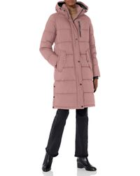 BCBGeneration Eco-friendly Filled Long Puffer Coat With Hood - Pink