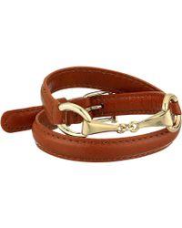 """Lauren by Ralph Lauren - Saddle 16"""" Leather Wrap Bracelet - Lyst"""