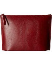 Ecco Sculptured Day Clutch Earth Handbags Lyst