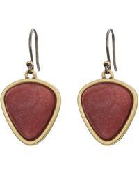 Lucky Brand - Set Stone Drop Earrings (gold) Earring - Lyst