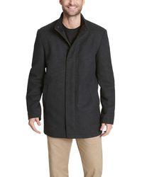 Dockers Wool Melton Two Pocket Full Length Duffle Coat - Gray