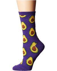 Socksmith - Avocado (parrot Green) Women's Crew Cut Socks Shoes - Lyst