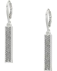 Lauren by Ralph Lauren - Micropave Linear Bar Earrings (gold) Earring - Lyst