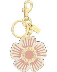COACH Willow Floral Bag Charm - Metallic