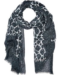 MICHAEL Michael Kors - Layered Graphic Leopard Oblong (black) Scarves - Lyst