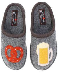 Haflinger Beer Pretzel Slipper - Gray