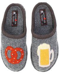 Haflinger - Beer Pretzel Slipper (grey) Slippers - Lyst