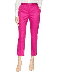 Ellen Tracy - Slim Leg Trousers W/ Side Slits (orchid) Women's Clothing - Lyst