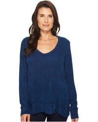 Mod-o-doc | Chenille Sweater Knit Forward Seam Long Sleeve Sweater | Lyst