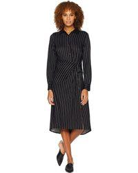 Catherine Malandrino - Collared Front Knot Midi Dress (pinstripe) Women's Dress - Lyst