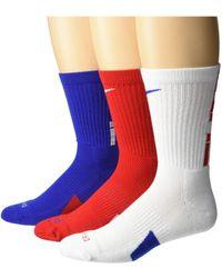 Nike Elite Crew Basketball Socks 3-pair Pack - Blue