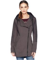 MICHAEL Michael Kors - Zip Front/zip Back Hooded Knit Coat A320673gz (black) Women's Coat - Lyst
