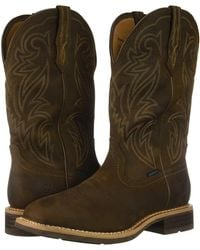 6d4a3069426 Ariat Tombstone Smooth Quill Ostrich Boot in Brown for Men - Lyst