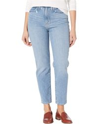 Madewell The Momjean In Melva Wash - Blue