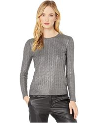 Lauren by Ralph Lauren Cable-knit Sweater - Gray