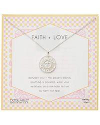 Dogeared Womens Faith /& Love Cross Medallion Necklace