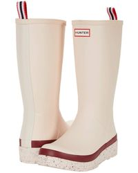 HUNTER Play Tall Speckle Sole Wellington Boots - Pink