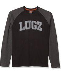 Lugz First Pitch Long Sleeve Raglan T-shirt - Black